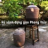 Hũ sành đựng gạo phong thủy gốm sứ Bát Tràng - Hải Long since 1982