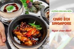Cháo ếch singapore nấu bằng nồi đất có tay cầm NodaCook