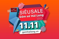 siêu sale 11.11 gốm sứ Hải Long