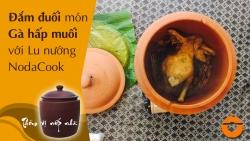 Gá hấp muối với lu đất nung NodaCook Bát Tràng