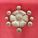 Bộ bát đĩa hoa mặt trời men nổ - gốm sứ thủ công tại Bát Tràng