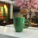 Tách cà phê Latte quai C 280ml (Xanh lá)