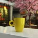 Tách cà phê Latte quai tròn 280ml (Vàng)