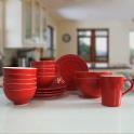 Set 17 sản phẩm bộ đồ ăn sứ cao cấp (Đỏ)