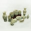 Bộ đồ thờ Hoa sen bày ban thờ ngày tết 13 sản phẩm (Men rạn)