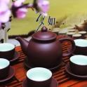 Bộ ấm trà quả hồng nâu tử sa
