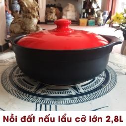 Nồi đất nấu lẩu cỡ lớn 2,8L - NodaCook