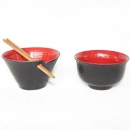Bát ăn mỳ kiểu Nhật Bản (Đỏ)