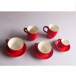 Bộ 05 tách uống cà phê Capuccino - Espresso - Latte cao cấp