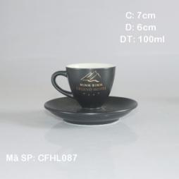 Tách cà phê Epresso TBN 80ml (Đen mờ)