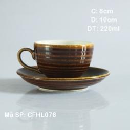 Bộ tách cafe cappuccino siêu đẹp giả vuốt