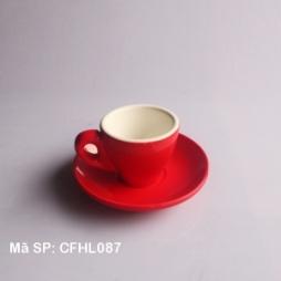 Tách cafe Espresso dáng TBN 80ml (Đỏ)