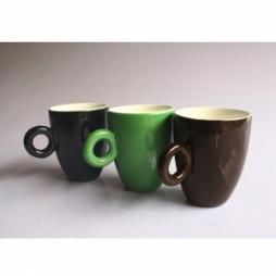 Cốc latte dáng Ý quai tròn độc đáo