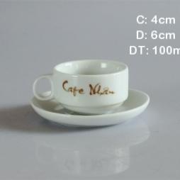Tách trà - tách cà phê truyền thống (Trắng)
