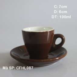 Tách cafe Espresso TBN 80ml pha máy (Nâu)