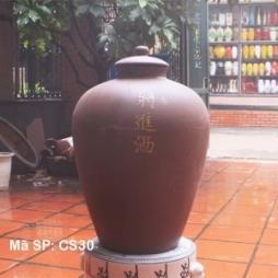 Chum sành ngâm rượu 30 lít Khắc chữ vàng Nghệ thuật