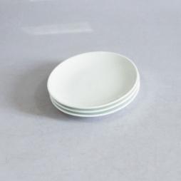Bộ 03 đĩa sứ một lá phi 16cm (Trắng)
