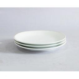 Bộ 03 đĩa sứ một lá phi 20cm (Trắng)