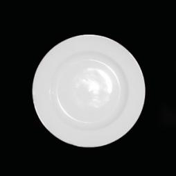 Đĩa sứ tròn cao cấp cho gia đình phi 26cm (Trắng)