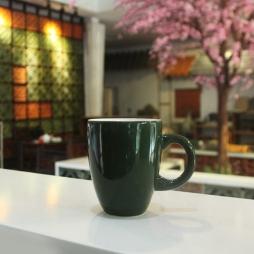 Tách cà phê Latte quai C 280ml (Xanh đen)