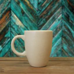 Cốc latte Ý quai C (Kem)