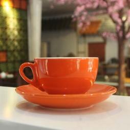 Tách cà phê Capuccino dáng Ý 220ml (Cam)