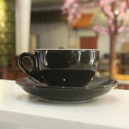 Tách cà phê Capuccino dáng Ý 220ml (Đen)