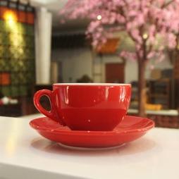 Tách cà phê Capuccino dáng Ý 220ml  (Đỏ)