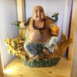 Tượng Phật Di Lặc cá chép cao 40cm - S2