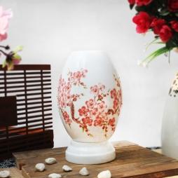 Đèn xông tinh dầu họa tiết hoa mai cỡ lớn