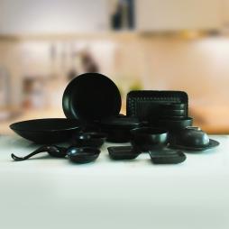 Set 17 sản phẩm bộ đồ ăn sứ kiểu dáng sang trọng (Đen)