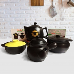 Bộ nồi đất & ấm sắc thuốc trên bếp từ - Chăm sóc sức khỏe toàn diện cho gia đình & người thân