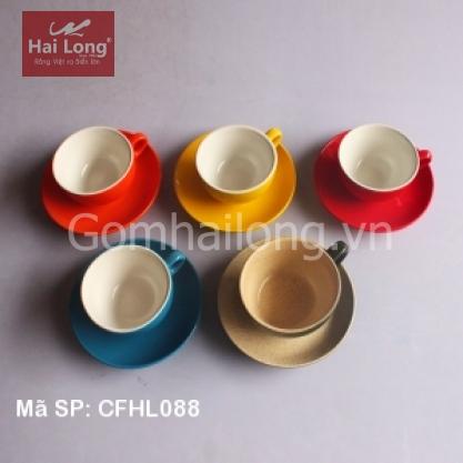 Bộ 05 tách sứ pha cà phê Cappuccino dáng Tây Ban Nha 220ml