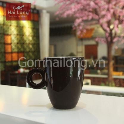 Tách cà phê Latte quai tròn 280ml (Nâu)