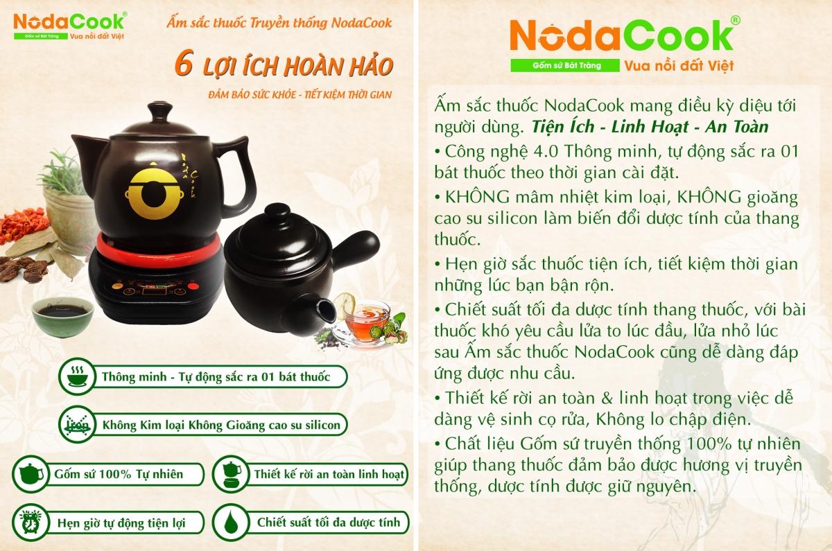 6 lợi ích từ ấm sắc thuốc bắc bằng điện NodaCook