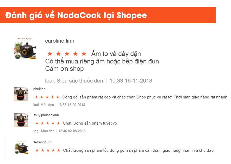 Đánh giá sản phẩm NodaCook trên shopee