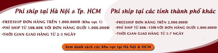 phí vận chuyển của Gốm sứ Hải Long theo danh sách khu vực