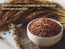 10 lợi ích của Gạo Lứt không ngờ tới sức khỏe có thể bạn chưa biết