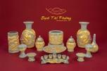 Bộ đồ thờ cúng men rạn dát vàng cho ban 1m54 trở lên