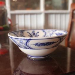 Bát chiết yêu hoa văn tam thái cổ cỡ số 02 ăn mỳ quảng