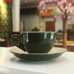 Tách cà phê Capuccino dáng Ý 220ml (XanhĐen)