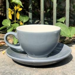 Tách Cà phê Capuccino Ý 280 (Màu Ghi Xám) - Gốm sứ Hải Long Bát Tràng
