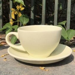 Tách Cà phê Capuccino Ý 280 (Màu Mát Kem) - Gốm sứ Hải Long Bát Tràng