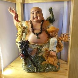 Tượng Phật Di Lạc tứ linh cao 40cm