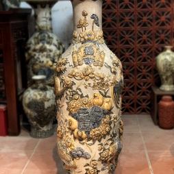 lộc bình 1m4 trang trí phòng khách ban thờ - gốm sứ Hải Long Bát Tràng
